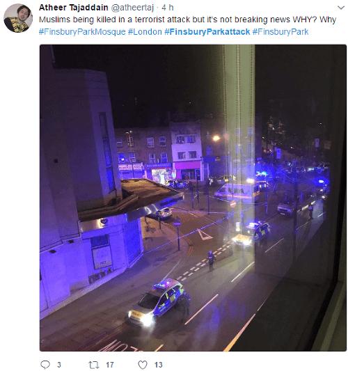 Muž v Londýne vrazil