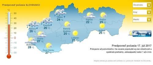 Predpoveď meteorológov sa napĺňa: