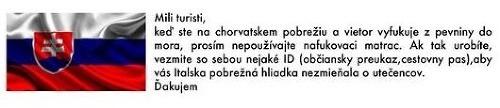 FOTO Chorváti varujú Slovákov