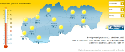 Slováci si užijú týždeň