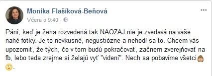 Flašíková Beňová pripravená na