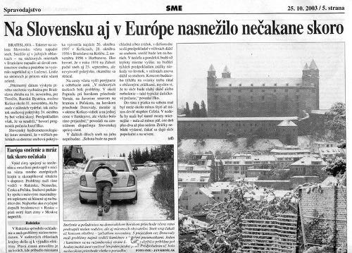 Slovensko zasiahne arktická zima!
