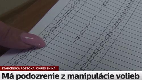 Volebný škandál v Snine,