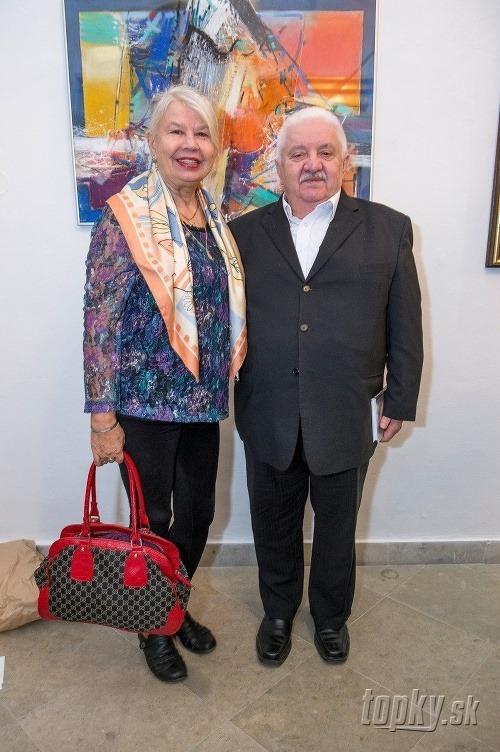 Marián Labuda s manželkou