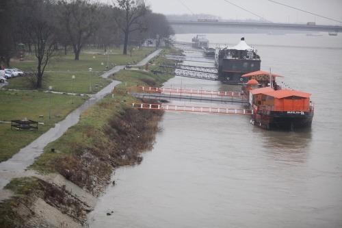 Hladina Dunaja v Bratislave