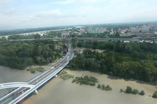 Letecké zábery na Dunaj
