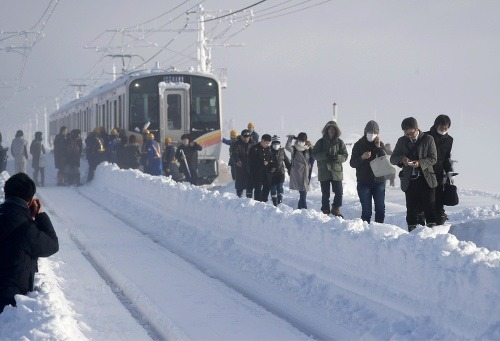 Vlak v Japonsku musel