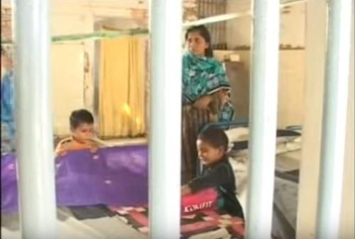 Ženská väznica v Pakistane.