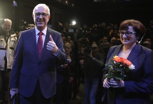Jiří Drahoš s manželkou