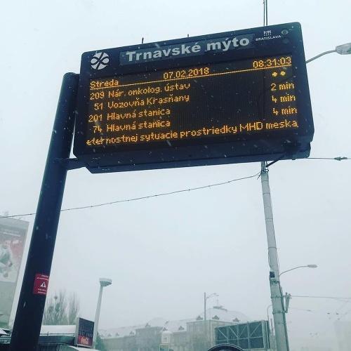 Sytuácia na bratislavských cestách.