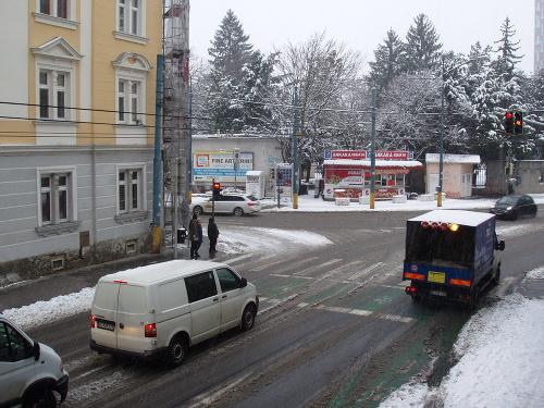 Situácia v Bratislave popoludní.