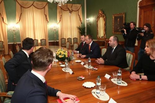 Prezident Andrej Kiska prijal