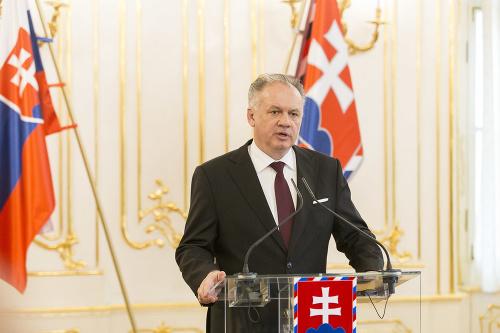 Andrej Kiska počas tlačovej