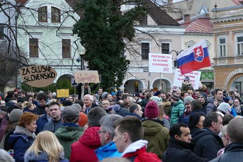 Protest v Žiline