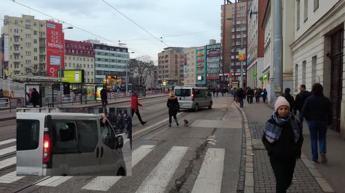 Rozbité auto v Bratislava