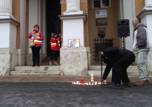 Protest v Krupine