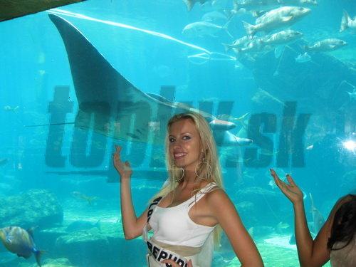 Predtým, než si pozrela karneval, sa Denisa navečerala v reštaurácii Atlantis.