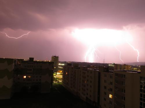 Búrka v Hlohovci