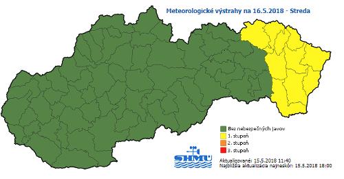 Výstraha pre východ Slovenska: