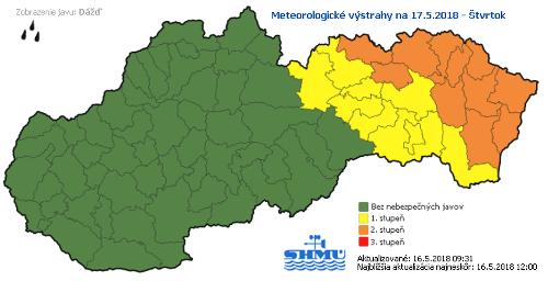 Meteorológovia varujú pred povodňami: