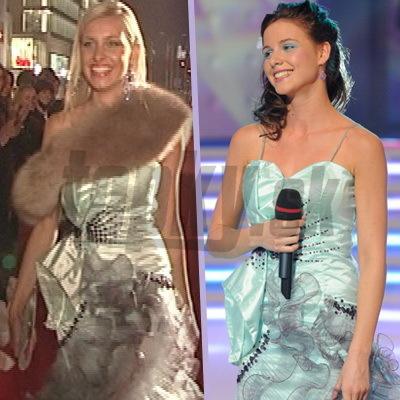 Nela Pocisková a Denisa Mendrejová v rovnakých spoločenských šatách.