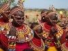 Slávnostné oblečenie Masajov, Keňa