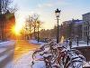 Amsterdam v zime, Holandsko
