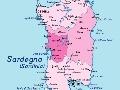 Sardinia (Sardegna) - mapa
