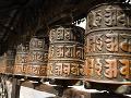 Typické budhistické modlitebné mlynčeky