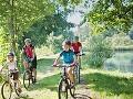 Na bicykli aj na