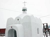Rus postavil snehový kostolík pre dedinčanov na Sibíri