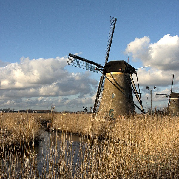 Veterné mlyny, Kinderdijk, Holandsko