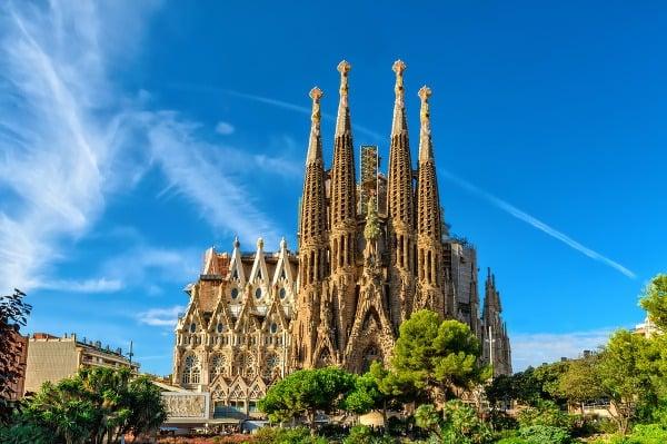 Sagrada Familia v Barcelone