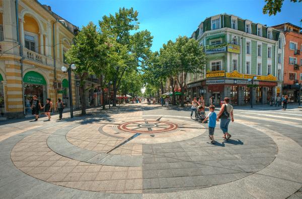 Pešia zóna v Burgase