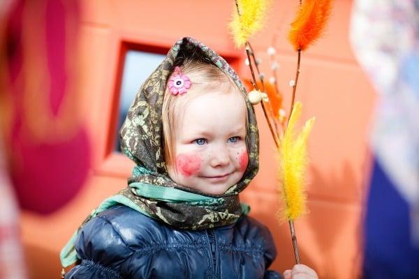 Fínskej dievčatko počas Veľkej
