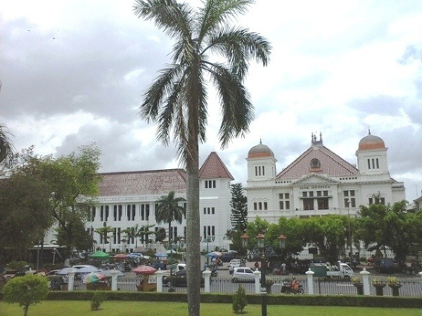 Jogyakarta, ostrov Jáva, Indonézia