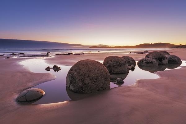 Balvany Moeraki, Nový Zéland
