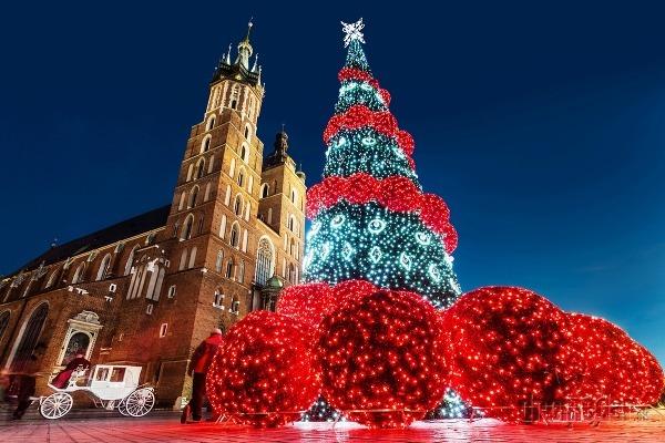 Vianočný Krakov, Poľsko