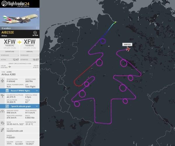 Nemecký pilot letel trasou