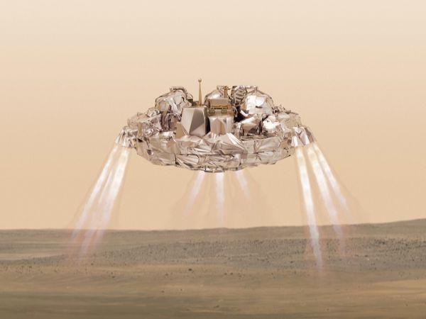 Sonda pristáva na povrch Marsu