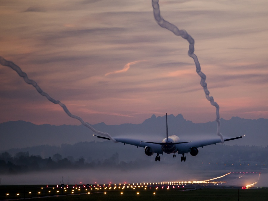 Hmla na letisku