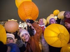 Tradičné oslavy dňa lievancov v Moskve