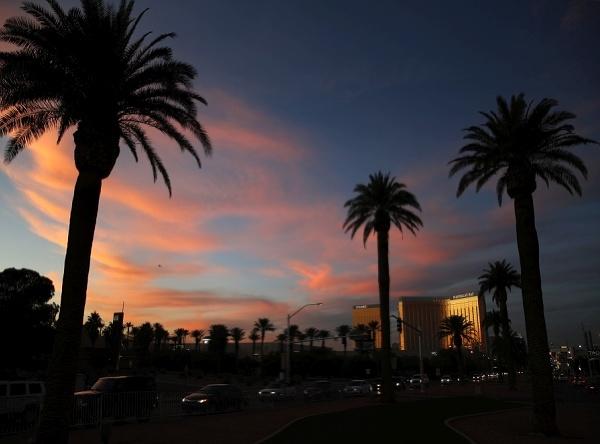 Západ slnka v Las Vegas