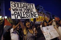 Protesty proti vojenským operáciám Izraela v Gaze