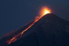 Sopka v Guatemale