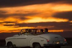 Západ slnka nad Havanou