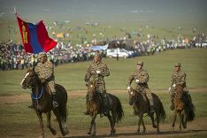 Festival v Mongolsku