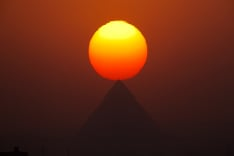 Čarovný západ slnka v Egypte