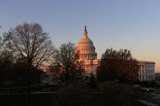 Východ slnka vo Washingtone