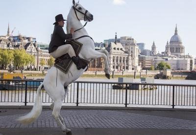 Kovboj v centre Londýna